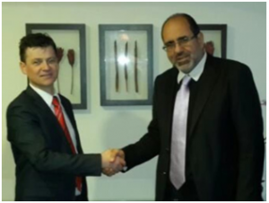 Aidan Connolly, Idiro CEO and Tarek Itani, CEO of Apliman