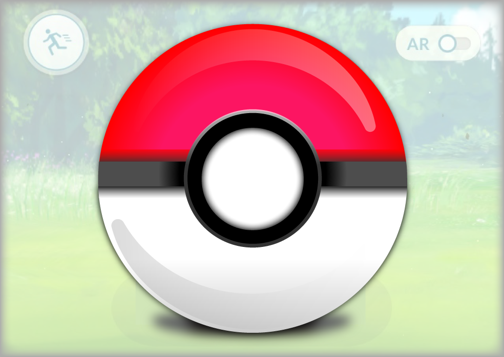 Pokeball on a background with overlay