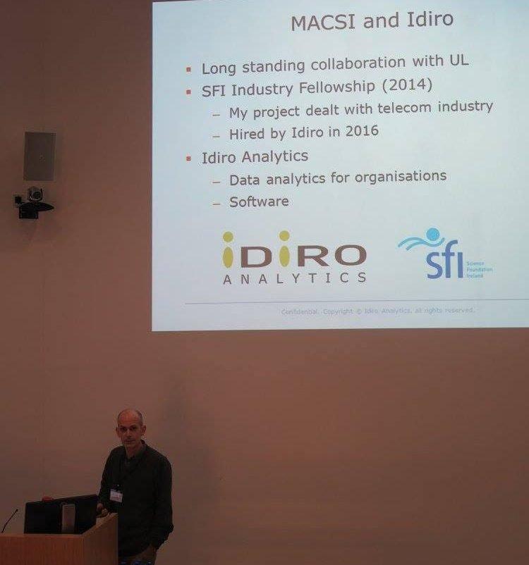 Davide Cellai speaking at MACSI