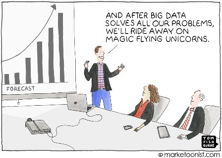 An employee giving a presentation to his boss about the importance of Big Data