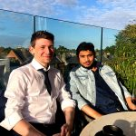 Our data analysts enjoying the sunny weather and taking a break from work