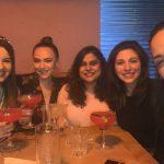 Female employee's of Idiro Analytics, having a few drinks after work