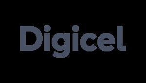 Digicel logo on a checkered background on Idiro's website
