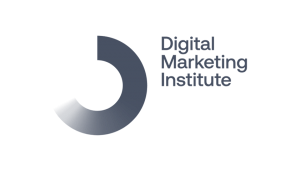 Digital Marketing Institute's logo on a black and white checkered background on Idiro's website