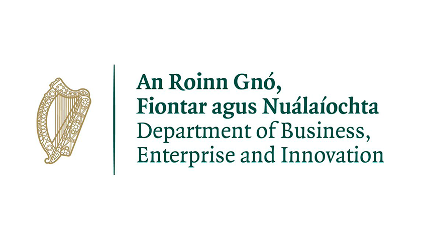 A logo of Department of Business, Enterprise and Innovation of Ireland